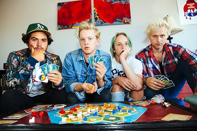 PUNK'S NOT DEAD :  SWMRS (pictured) bring their kinetic punk rock sounds to the SLO Grange on April 5, with opening act The Frights. - PHOTO BY ALICE BAXLEY