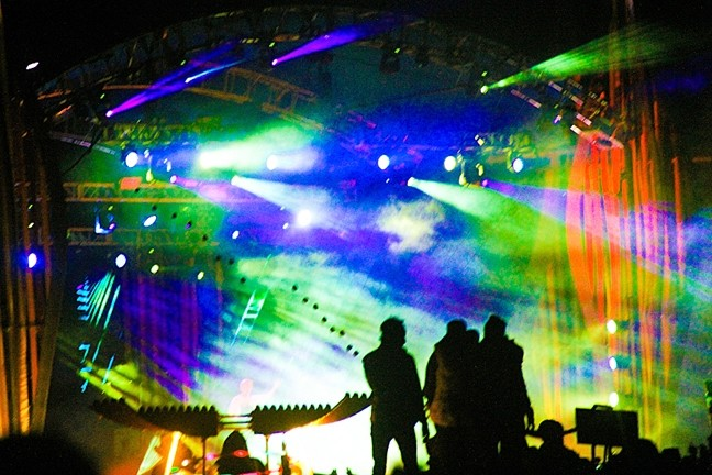 MAIN STAGE:  The main stage at Lightning in a Bottle features incredible productions that are sure to stimulate your senses. - PHOTO BY DYLAN HONEA-BAUMANN