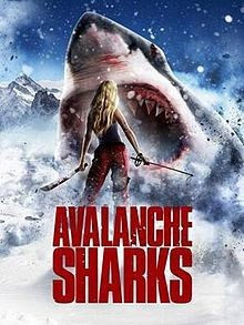 SHARKS ON THE SLOPES:  'Avalanche Sharks' takes to the slopes with yet another low-budget shark movie that has a ridiculous plot. - PHOTO COURTESY OF ODSSEY MEDIA