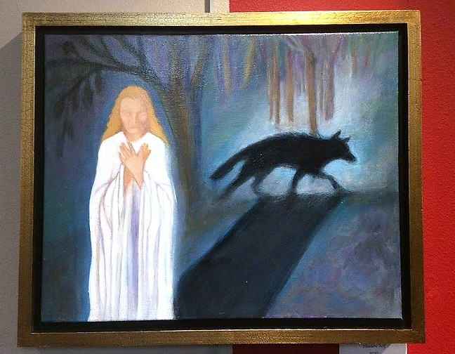 THE DARK SIDE:  Linda Grone Smith's piece 'Shadow Self' explores unconscious aspects of human personality. - PHOTO COURTESY OF PASO ROBLES ART ASSOCIATION