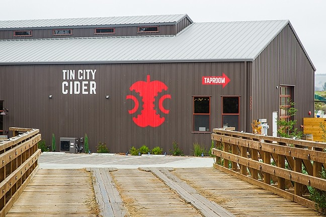 TIN CITY SPLENDOR:  Tin City Cider Co. joins Wine Shine, ONX Winery, and BarrelHouse Brewing Co. (as well as many more inventive artisanal offerings) at Paso Robles' hippest new tasting stop, Tin City. - PHOTO BY JAYSON MELLOM