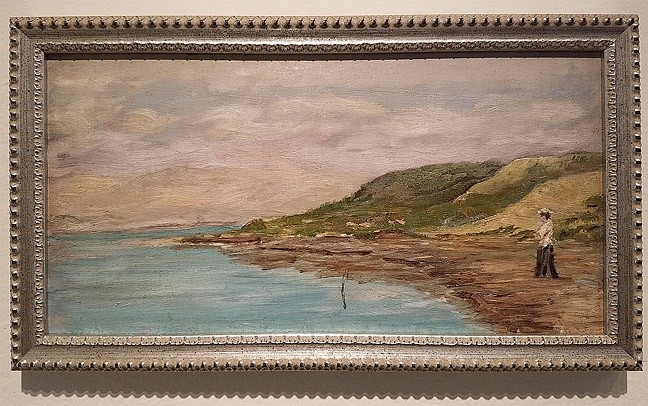 ADVENTURING:  Artist Marie Ascension Dallidet traveled abroad with her sister toward the end of her life and painted local landscapes like the piece 'English River Scene' somewhere along the Liverpool and Leeds Canal, circa 1907. - PHOTO COURTESY OF THE SAN LUIS OBISPO MUSEUM OF ART