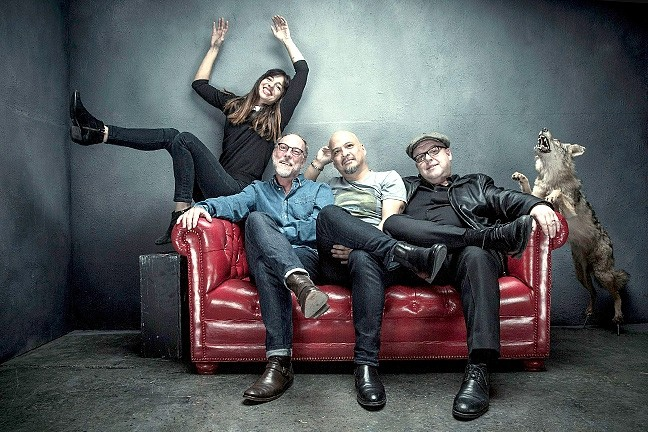 LUCKY US :  The Pixies—(left to right: Paz Lenchantin, David Lovering, Joey Santiato, and Black Francis) play the Fremont Theater on Oct. 27, one of four West Coast warm-up dates before their European and UK tour. - PHOTO BY TRAVIS SHINN