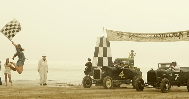 READY, STEADY, GO!:  On Oct. 15, dozens of pre-World War II hot-rodded cars and motorcycles convene on Grover Beach for The Race of Gentlemen, braving rain and high tides to compete. - PHOTO BY GLEN STARKEY