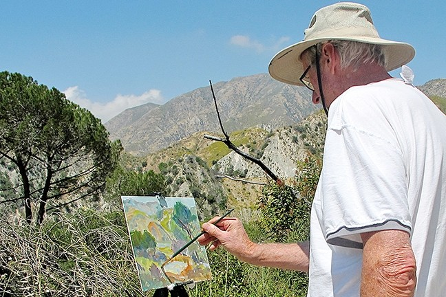 PLEIN AIR:  German-born and California-based artist Karl Dempwolf paints outdoors whenever possible. - PHOTO COURTESY OF STUDIOS ON THE PARK