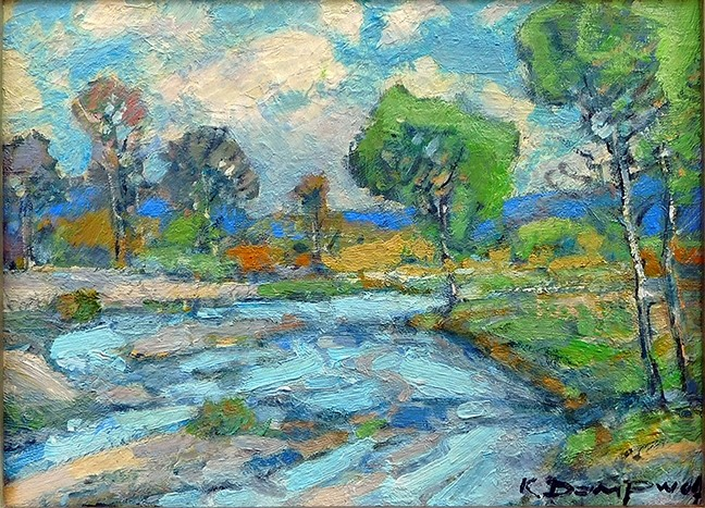 A LIFETIME OF PAINTING:  Later this year, artist Karl Dempwolf, creator of landscape paintings like Salinas River, will be honored with the Lifetime Achievement Award at the National Plein Air Convention and Expo. - IMAGE COURTESY OF STUDIOS ON THE PARK
