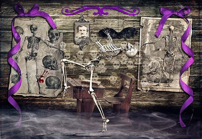 SWEPT UP IN THE FANTASY:  A skeleton dances merrily about in Bruce Cook's digital art piece, 'School's Out Eternal,' as part of the Masquerade exhibit at Studios on the Park in Paso Robles. - IMAGE COURTESY OF BRUCE COOK