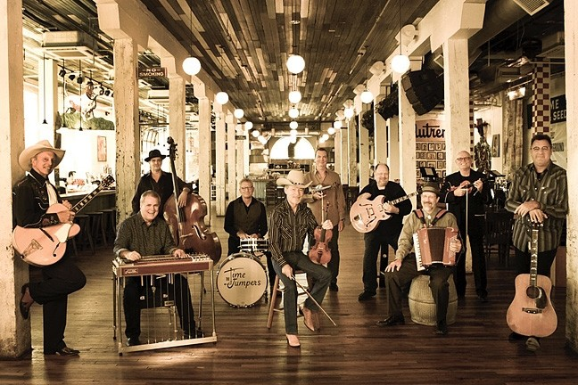 SWINGERS:  Superstar Western swing act The Time Jumpers—featuring Vince Gill and Ranger Doug Green—play the SLOPAC on Oct. 3. - PHOTO COURTESY OF THE TIME JUMPERS