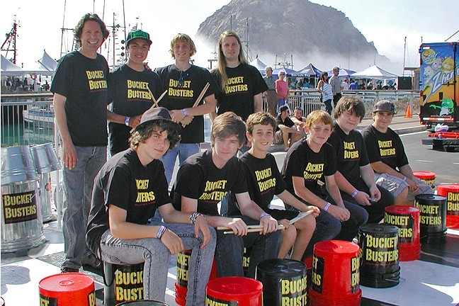 BUCKETS BY THE BAY:  Percussion act The Bucket Busters are one of several acts playing at the daylong Morro Bay Harbor Festival on Oct. 1. - PHOTO COURTESY OF THE BUCKET BUSTERS