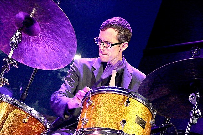 NYC DRUM GOD:  The SLO Jazz Fed hosts The Matt Slocum Trio in SLO's Unity Concert Hall on Nov. 5. - PHOTO COURTESY OF MATT SLOCUM