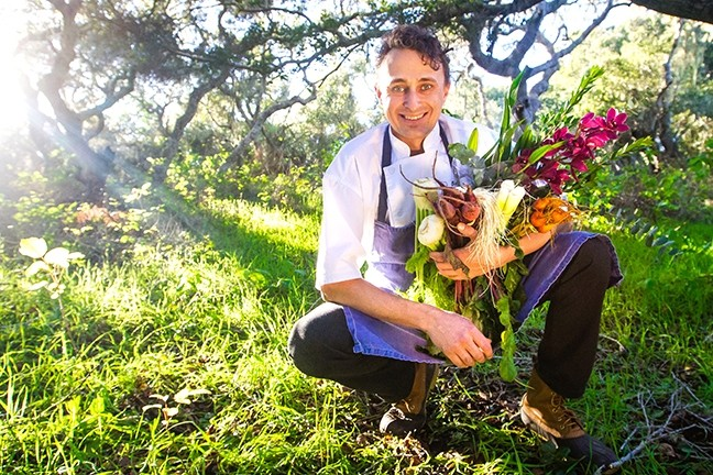 FEED YOUR LOVE:  Danior Kitchen owner/chef Spencer Johnston has come a long way since starting out at Paso Robles' Bistro Laurent some 18 years ago. Today, the creative, ultra-seasonal chef crafts incredible menus for some of the region's top winemakers and foodie friends. - PHOTO BY JAYSON MELLOM