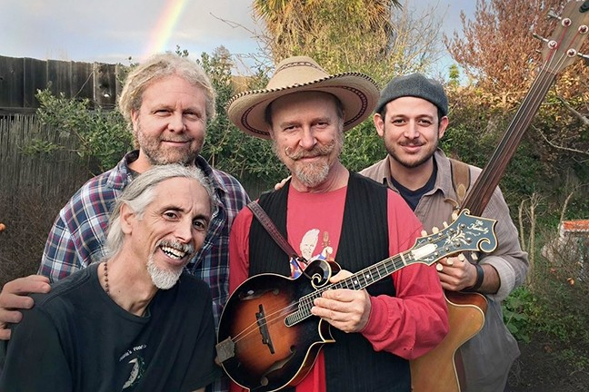 ACOUSTIC DAWGS:  Covering early David Grisman material, Painted Mandolin plays the Templeton Tennis Ranch on Dec. 11. - PHOTO COURTESY OF PAINTED MANDOLIN