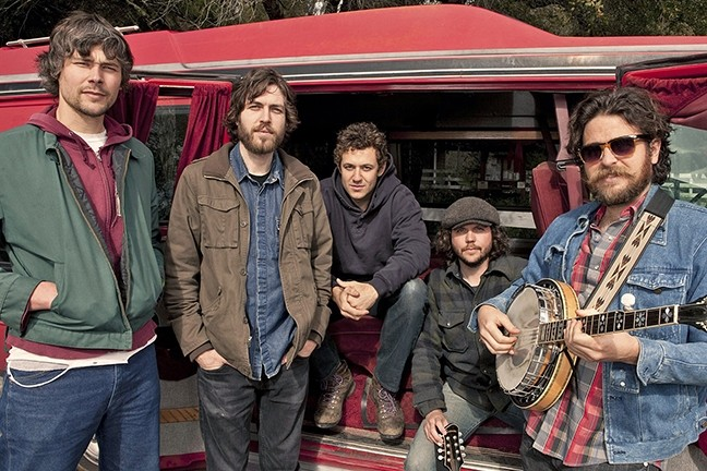 HAPPY CAMPERS:  San Francisco alt-bluegrass act The Brothers Comatose play Live Oak on June 16 and are excited to spend the weekend camping and jamming. - PHOTO COURTESY OF THE BROTHERS COMATOSE
