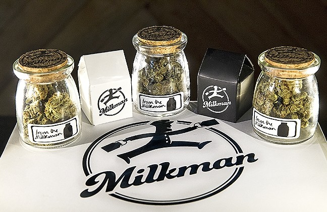 MEDICAL DELIVERY:  The Milkman Collective brings the best medical marijuana products to your doorstep, and in stylish cartons and bottles, to boot. - PHOTO BY JAYSON MELLOM