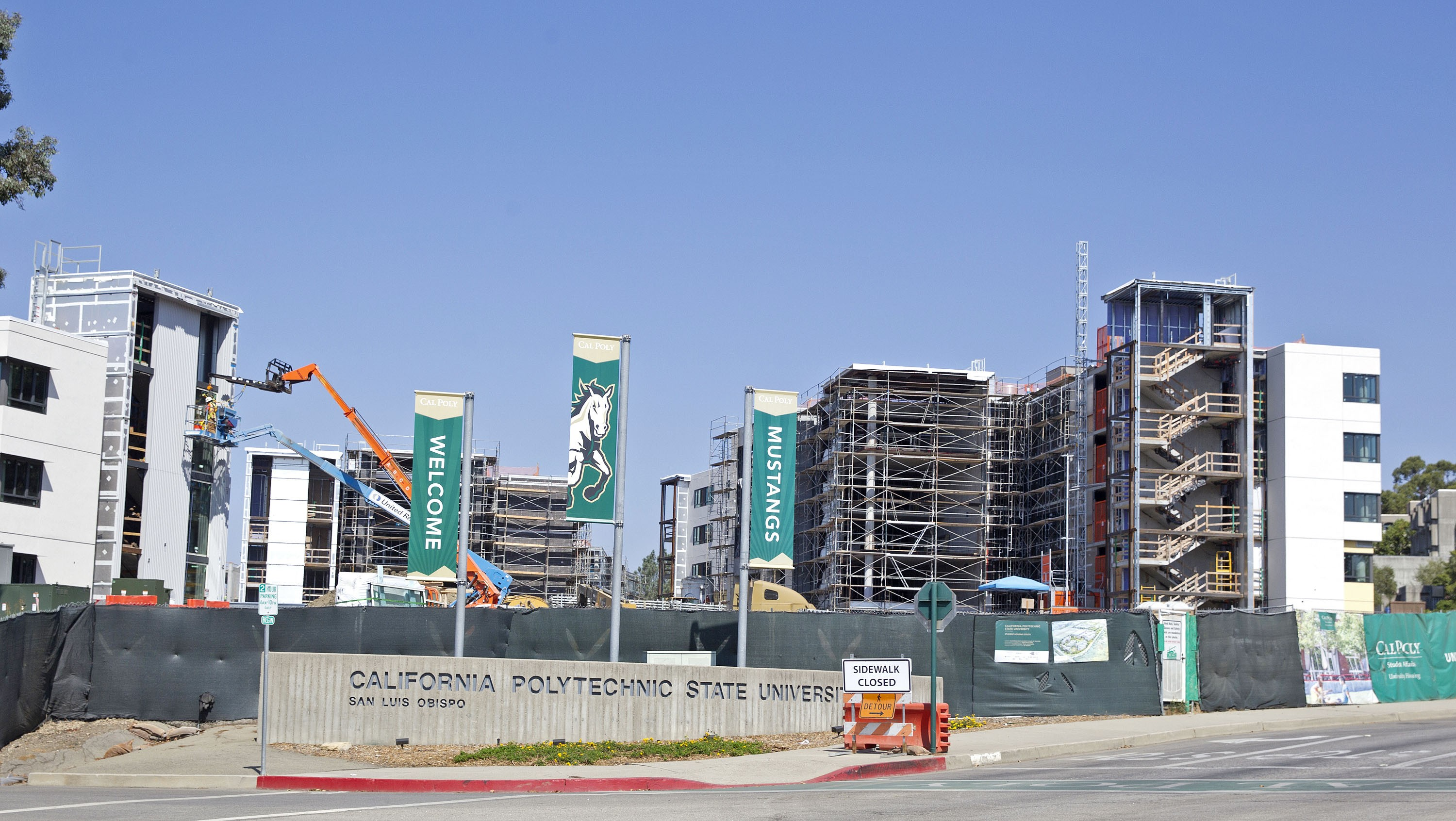 Click To Enlarge Not Ready Yet These Cal Poly Dorms Under Construction Will Be House The