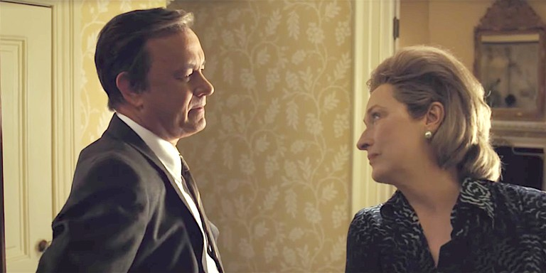 GOVERNMENT SECRETS Washington Post Publisher Katharine Graham (Meryl Streep) and editor Ben Bradlee (Tom Hanks) put their jobs on the line in order to expose the truth in The Post. - PHOTO COURTESY OF 20TH CENTURY FOX