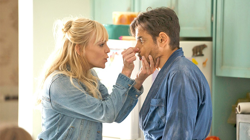 RESET After losing his memory, a wealthy playboy (Eugenio Derbez) is convinced he's a contractor married to his former cleaning lady (Anna Faris) in Overboard. - PHOTO COURTESY OF PANTELION PICTURES