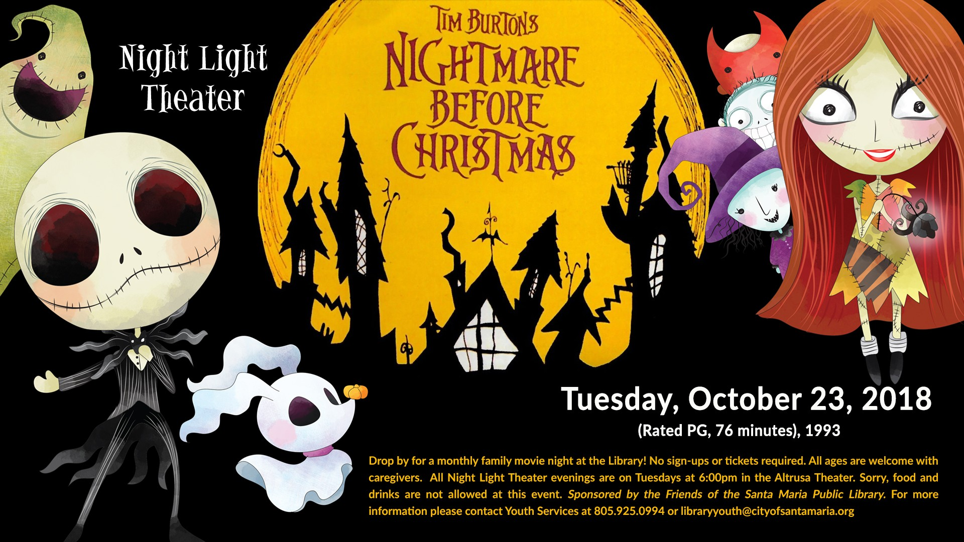 Night Light Theater: The Nightmare Before Christmas | Santa Maria ...