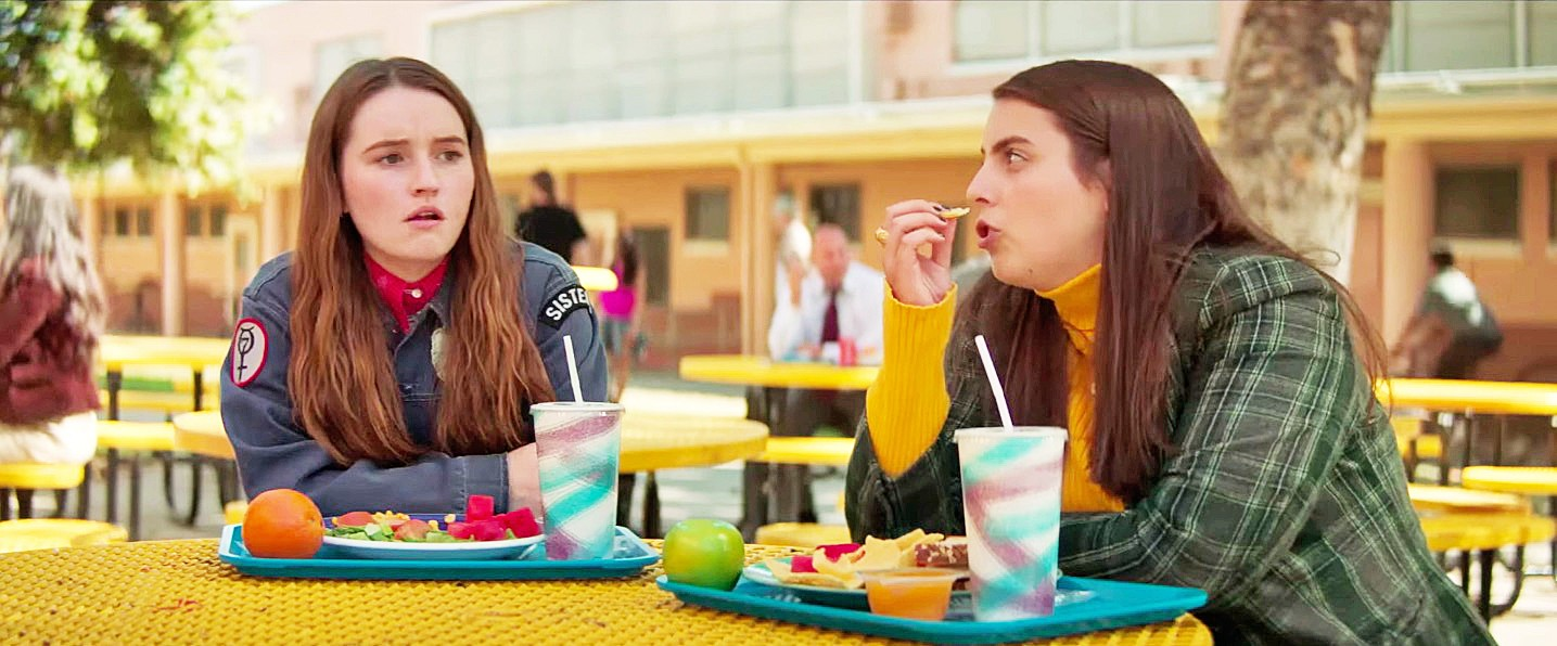 NERD PATROL Academic superstars and besties Amy (Kaitlyn Dever, left) and Molly (Beanie Feldstein) decide to make their final night as high schoolers one to remember, in Booksmart. - PHOTOS COURTESY OF ANNAPURNA PICTURES