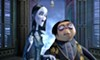 <b>CREEPY AND KOOKY </b>Morticia (voiced by Charlize Theron) and her husband, Gomez (voiced by Oscar Isaac), find their lives unraveling when they move their peculiar family to New Jersey, in the new animated film <i>The Addams Family</i>.