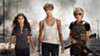 "<b>THREE STRONG</b><b> </b>(Left to right) Daniella ""Dani"" Ramos (Natalia Reyes) finds protection from enhanced soldier Grace (Mackenzie Davis) and Sarah Connor (Linda Hamilton) from a new Terminator out to kill Dani, the future mother of a resistance leader, in <i>Terminator: Dark Fate</i>."