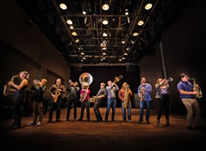 Brass Mash will play horn-driven pop, rock, and funk tunes on April 2 at Liquid Gravity