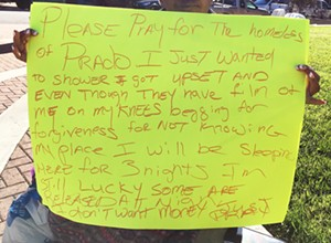 Homeless woman claims she was unjustly suspended from Prado