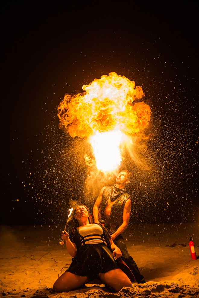 Engulfed in flames: Ignite Fire Dance of Santa Maria