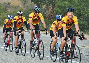 Shine a light: Firefighters bike California to raise cancer awareness