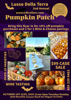 2ND Annual Lusso Della Terra Pumpkin Patch - Uploaded by Wine Galee