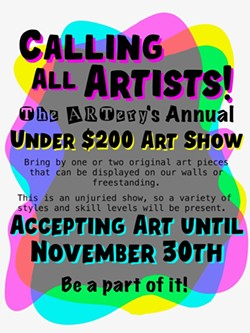 Call For Artists! Under $200 Art Show - Uploaded by the1artery 3