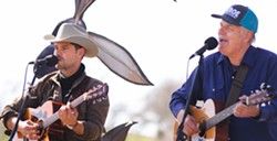 Wed. June 2 Songwriters at Play host Steve Key (pictured at right) will share the Puffers stage with Bakersfield balladeer Tim Styles (left), and LA-based touring artist Pi Jacobs. - Uploaded by Steve Key