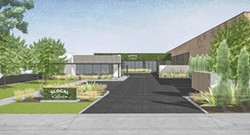 RENDERING COURTESY OF THE CITY OF SLO - FINAL STORE SLO city approved its third and, for now, final cannabis dispensary (rendered) on South Higuera Street.