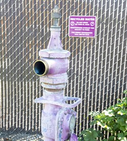 PHOTO BY JAYSON MELLOM - SPIGOT ON San Luis Obispo County residents struggling with depleted groundwater will continue to have access to water from a SLO municipal well on Prado Road.