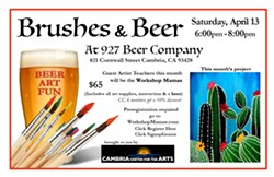 Brushes and Beer - Uploaded by Judy Maynard
