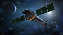 Artist rendering of Chandra X-ray Observatory - Uploaded by Cal Poly Physics