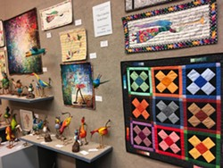 The Colorful Kabelines: quilts and paper mâché birds - Uploaded by Patti Everett