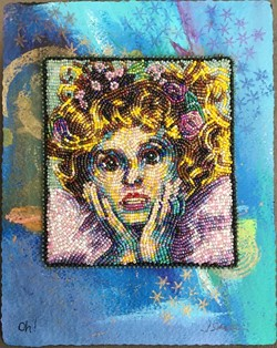 """""""Oh!"""" A beaded art  submission that will be in the show! - Uploaded by Sheri Parisian"""