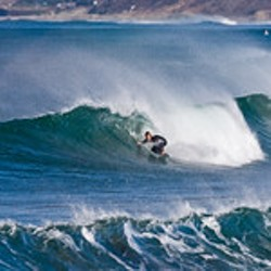 Surfing Morro Rock in Morro Bay, CA - Uploaded by Events CCSPA