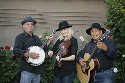 Steve Shapiro, Briana Bandy, Emil Olguin from LA are Rhythm Method String Band - Uploaded by Risa Kaiser-Bass