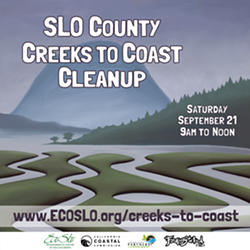 Help make SLO County's environment cleaner by volunteering to pick up and track trash off our coastlines, creeks, and parks! You can help by volunteering at one of our nearly 50 cleanup locations on September 21st from 9am to noon! - Uploaded by Zac Pfeifer