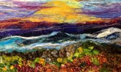 Needled Felt and Fiber Landscape Painting Workshop - Uploaded by Ellen November