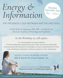 Wellness Workshop - Energy & Information: The Feedback Loop Between Matter & Soul - Uploaded by Jessica Micklus 1