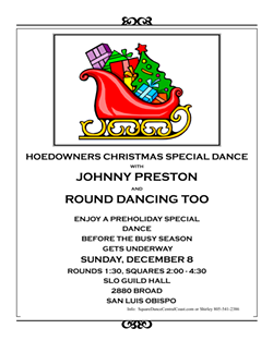 HOEDOWNERS CHRISTMAS SQUARE AND ROUND DANCE - Uploaded by Leah Greeley