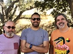 Trio version of local band Carbon City Lights -- (from left) cellist Bob Liepman, lead singer Michael Venia, lead guitarist Bret Heenan - Uploaded by Steve J. Key