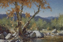 The Old Sycamore (detail) by Matt Smith. On view in Masters of the American West. - Uploaded by SLOMA