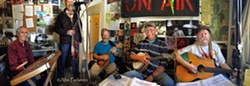 Atlas Mountain Boys (aka Foggy Bay String Band) play for February 8 Contra Dance in SLO - Uploaded by Risa Kaiser-Bass
