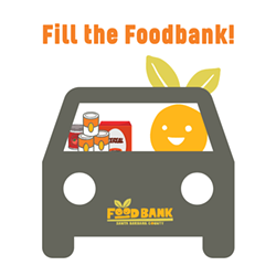 Donate food to those facing hunger, and never leave your car at Fill the Foodbank! Drive-thru Food Drive - Uploaded by Judith Smith-Meyer