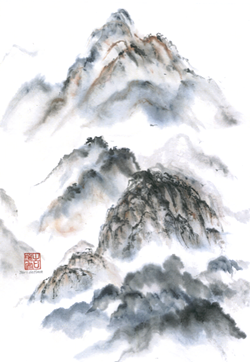 Chinese Brush Painting by Jari de Ham - Uploaded by Gregory Siragusa