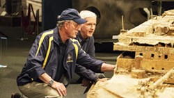 PHOTO COURTESY OF NATIONAL GEOGRAPHIC - EXPLORERS EXTRAORDINAIRE In Titanic: 20 Years Later with James Cameron, Ocean explorer Robert Ballard (left) and fellow explorer and film director James Cameron (right) revisit new findings from the sunken ship.